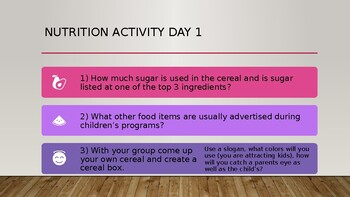 Toddler Nutrition 2 Activities