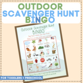 Toddler Outdoor Scavenger Hunt Bingo Game - Printable Down