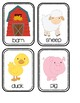 Toddler Picture Word Cards - Farm