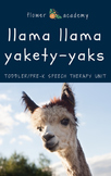 Llama Llama Red Pajama Toddler/Pre-K Speech Therapy Unit