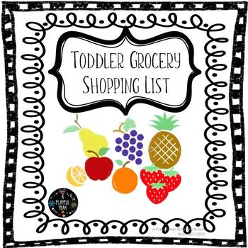 Toddler & Preschool Grocery Shopping Helper List