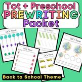 Toddler & Preschool Pre-Writing Worksheet Packet