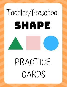 Toddler/Preschool Shape Practice Cards