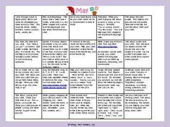 Toddler/Preschool Speech & Language Activity Calendar-May