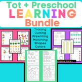 Toddler & Preschool Tracing, Prewriting, and Learning Packet Bundle