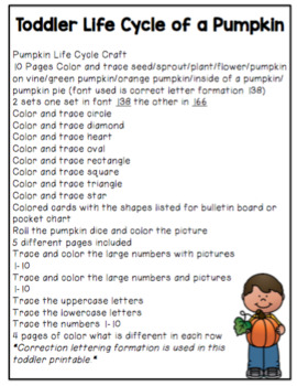 Toddler Pumpkin Life Cycle and More