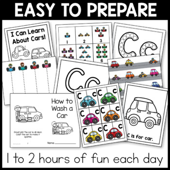 Toddler Lesson Plans - Cars Themed Lessons