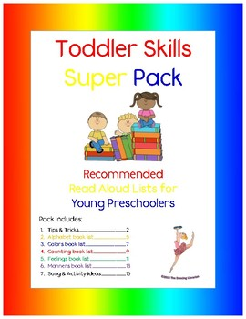 Toddler Skills Super Pack: Recommended Read Alouds for Young Preschoolers