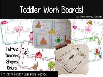 Toddler Skills Work Boards
