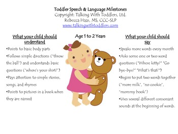 Toddler Speech & Language Milestones
