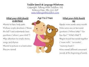 Toddler Speech & Language Milestones