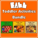 Toddler Time Learning Activities – Fall Bundle