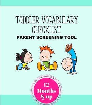 Toddler Vocabulary Checklist - Parent Screening Tool