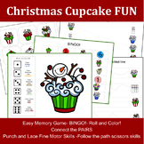 Toddler Worksheet: Christmas Cupcake Fun