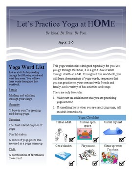 Toddler Yoga Workbook