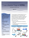 Toddler Yoga Workbook