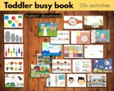 Toddler busy book | Toddler learning folder | Interactive binder