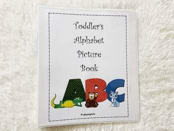 Toddler's Alphabet Picture Book, Alphabet Book, Phonics Book, Learning Folder