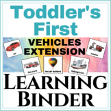 Toddler's First Learning Binder Vehicles Extension!
