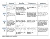 Toddler/PreK/Kindergarten Activity/Homework Calendar