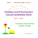 Toddlers and Preschoolers Color Learning Pack