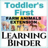 Toddlers first Learning Binder Farm Animals Extension!
