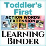 Toddlers first Learning Binder Action Words Extension!