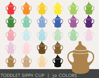 Toddlet Sippy Cup Digital Clipart, Toddlet Sippy Cup Graphics