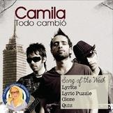 Todo Cambió Camila Spanish Song Packet