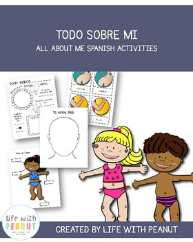 Todo Sobre Mi / All About Me Activities, Spanish Activities