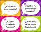 Spanish Question Words Task Cards