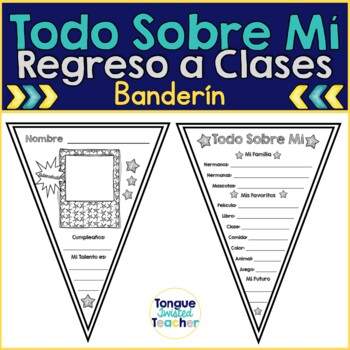Todo Sobre Mi Banderin - Regreso a Clases {All About Me Pennant in Spanish}