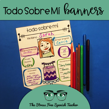 Todo Sobre Mi Banners! All About Me, Spanish Class Back to ... - photo#49