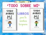 """Todo Sobre Mi"" – Editable Blank Spanish Books for Early Writing Practice"