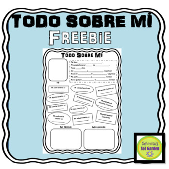 all about me todo sobre mi spanish worksheet by sol garden tpt