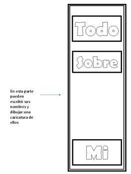 Todo Sobre Mi - Spanish Lapbook