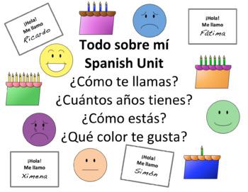Todo Sobre Mí Spanish Unit - Basic Conversations
