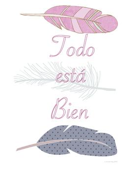 Todo esta Bien (All is Well) Classroom Art Poster