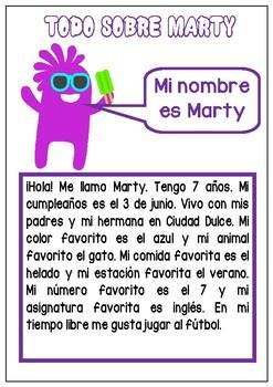 Todo sobre mi- Spanish Reading, writing, speaking- Personal information