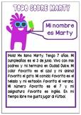 Todo sobre mi- Spanish Reading, writing, speaking- Persona