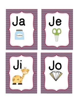 Todo sobre la sílaba Jj