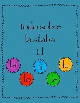 Las Silabas la le li lo lu - letra Ll- consonante L l