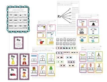 Todo sobre las sílabas -Bundle- 15 sílabas, C,CH,F,G,J,N,R,RR,T,V,Y,L,D,LL,T