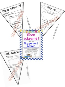 """""""Todo sobre mí""""  banner/pennant"""