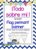 """Todo sobre mí""  Spanish banner/pennant All About Me"