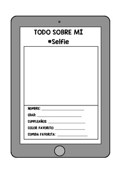 Todo sobre mí/ All about me/ English- Spanish / iPad iPhone selfie