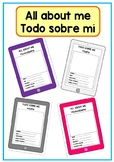 Todo sobre mí/ All about me/ English- Spanish / iPad iPhon