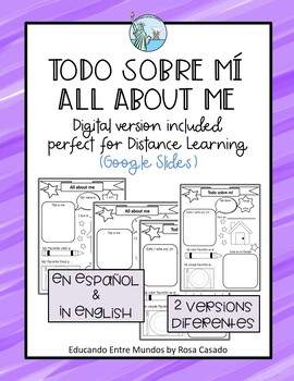 ALL ABOUT ME. Todo sobre mi ENGLISH/SPANISH