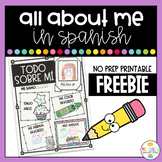 All About Me in Spanish Writing Activity - Todo Sobre Mi