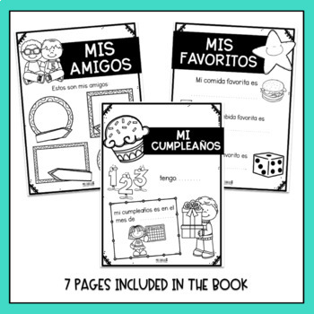 Todo sobre mi Writing Book (All about me in Spanish)